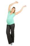 La gravidanza è sportiva Fotografia Stock