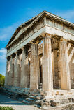 La Grecia, Atene, agosto 2016, l'acropoli di Atene, cittadella antica situata su un affioramento estremamente roccioso sopra la c Fotografia Stock