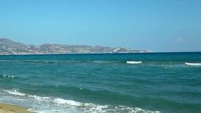 La Grecia Bello litorale di mare archivi video