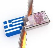 La Grecia contro Zona euro Fotografia Stock Libera da Diritti