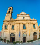 La Grecia, Creta, chiesa in Chania Xania, svuota il paesaggio Fotografia Stock Libera da Diritti