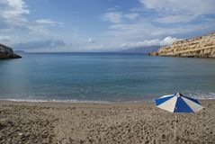 La Grecia, Creta, la località di soggiorno di Matala fotografia stock libera da diritti