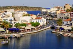 La Grecia, Crete, aggi Nikolaos Immagine Stock