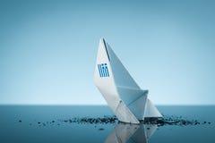 La Grecia d'affondamento Fotografia Stock Libera da Diritti