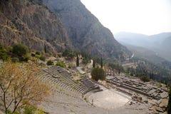 La Grecia. Delfi. Teatro Fotografia Stock