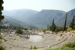 La Grecia. Delfi. Teatro Fotografia Stock Libera da Diritti