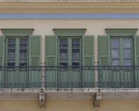 La Grecia, facciata della casa alla vecchia vicinanza di Plaka Immagine Stock Libera da Diritti