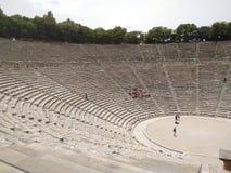 La Grecia, il teatro antico a Epidavros immagini stock libere da diritti