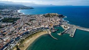 La Grecia Isola di Crete Rethymno Faro di concorso di fotografia del fuco Fotografia Stock