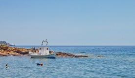La Grecia, isola di Thassos bella vista dalle montagne all'oceano ed alla natura vista panoramica della natura in Grecia fotografia stock libera da diritti