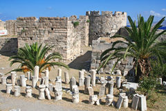La Grecia. Kos. Il castello fotografia stock libera da diritti