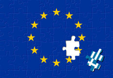 La Grecia lascia Unione Europea Fotografia Stock Libera da Diritti