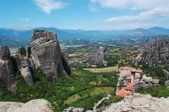 La Grecia Meteora Fotografie Stock Libere da Diritti