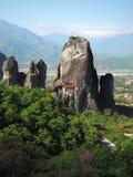 La Grecia meteors Fotografie Stock