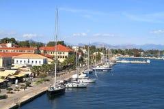 La Grecia/Prevesa: Boulevard della spiaggia Immagini Stock