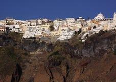 La Grecia, Santorini, Fira Fotografie Stock Libere da Diritti