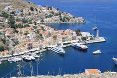 La Grecia, Symi Immagini Stock