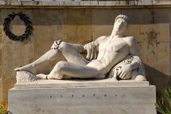 La Grecia. Termopili. Un monumento a Leonidas. Frammento Fotografie Stock
