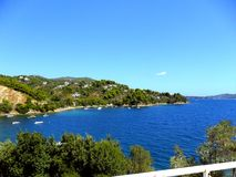 La Grecia, vacanze sull'isola di Skiathos Fotografia Stock