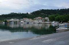 La Grecia vicino ai mikanos di alba Fotografia Stock Libera da Diritti