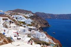 La Grecia, viste di Santorini Fotografia Stock Libera da Diritti