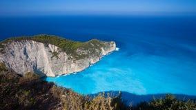 La Grecia, Zakinf, navagio Immagini Stock