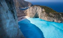 La Grecia, Zakinf, navagio Immagini Stock Libere da Diritti