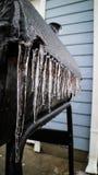 La griglia è stata coperta da ghiaccio Fotografia Stock Libera da Diritti