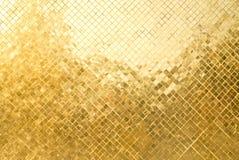 La griglia del piatto dorato Fotografia Stock