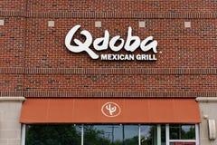 La griglia messicana di Qdoba è una catena dei ristoranti concessionari immagini stock