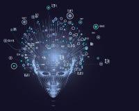 La grille principale de la femme Grand concept de donn?es Fond abstrait d'intelligence artificielle Conception esth?tique d'appre