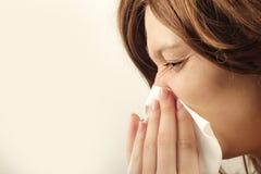 La gripe Imagen de archivo libre de regalías