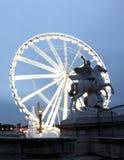 La großes Roue Riesenrad innen Paris Frankreich Stockbild