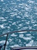 La Groenlandia, ghiaccio di galleggiamento del ghiacciaio di Eqi Fotografie Stock