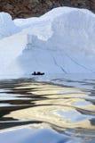La Groenlandia - iceberg - fiordo di Franz Joseph immagini stock libere da diritti
