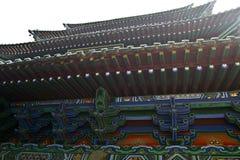 La gronda cinese di stile architettonico di Shaolin Temple fotografia stock