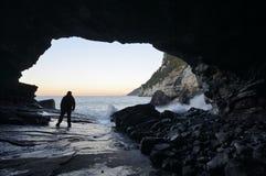 La grotta di Byron, Oporto Venere, Liguria, Italia fotografia stock libera da diritti