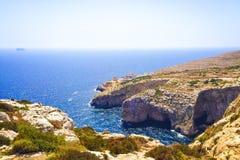 La grotte bleue Malte Image libre de droits