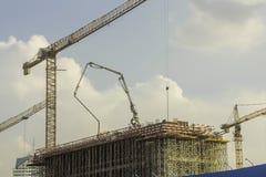 La gru di costruzione Fotografia Stock Libera da Diritti