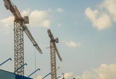 La gru di costruzione Fotografie Stock Libere da Diritti