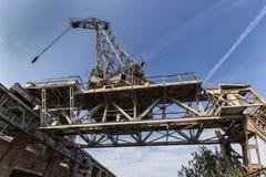 La gru storica del cantiere navale Fotografia Stock