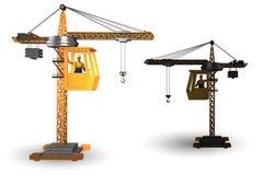 La grue de construction actionnée par l'opérateur image libre de droits