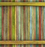 La grunge 3d rendent le contexte en bois coloré de planche de bois de construction Photos libres de droits