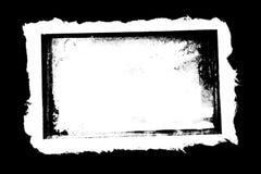 La grunge déchirée affile le papier avec le cadre brûlé Photo stock