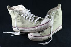 La grunge folâtre des chaussures Photo libre de droits
