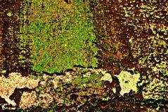 La grunge a peint le mur de briques Photographie stock libre de droits
