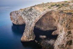 La gruta azul en Malta Imágenes de archivo libres de regalías
