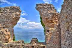 La gruta Catullus en Sirmione en el lago Garda Fotos de archivo