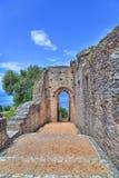La gruta Catullus en Sirmione en el lago Garda Fotos de archivo libres de regalías