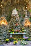 La gruta, es una capilla y un santuario al aire libre católicos situados en el distrito de Madison South de Portland, Oregon, Est foto de archivo libre de regalías